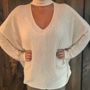 Urban Outfitters light sweater choker neck